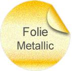 Aufkleber aus Metallic-Folie