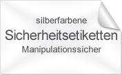 Sicherheits-Etiketten, Manipulationssicher, silberfarben